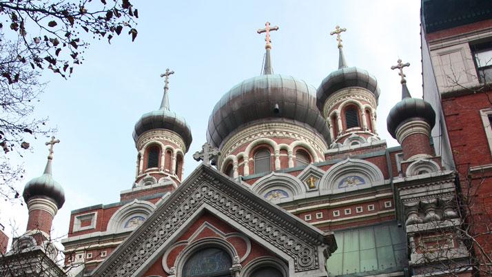 На молодежной секции Свято‐Николаевского Патриаршего собора, Нью‐Йорк, 9 сентября 2013 г.