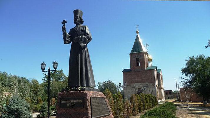 Памятник священнику Илие Попову открыт