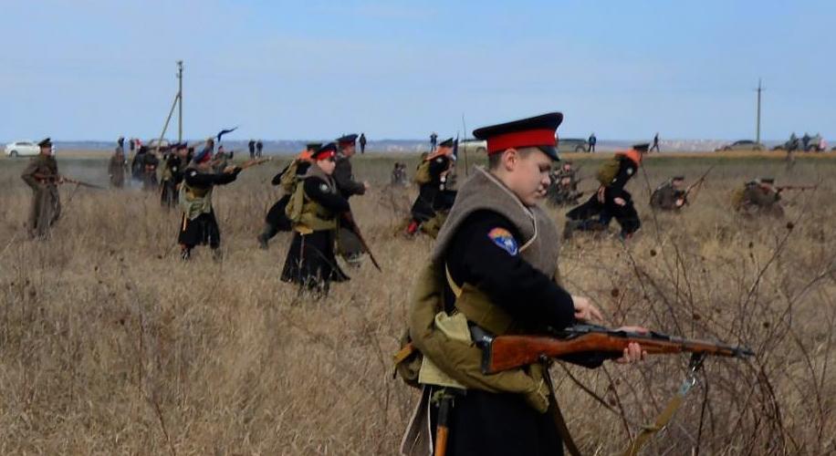 Реконструкция боя отряда донских партизан полковника Чернецова